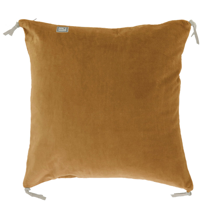 12 coloris disponibles - En-fil-dindienne - Coussin en velours Vague - 45x45 cm
