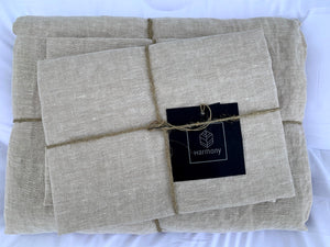2 colors available - Harmony - Viti washed linen duvet cover 140x200 cm