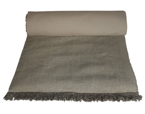 3 colors available - Harmony - Wani washed linen quilt - 85x200 cm