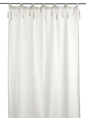 En-fil-dindienne - Rideaux en lin frangé - Blanc - 150x300 cm - Home Beddings and Curtains
