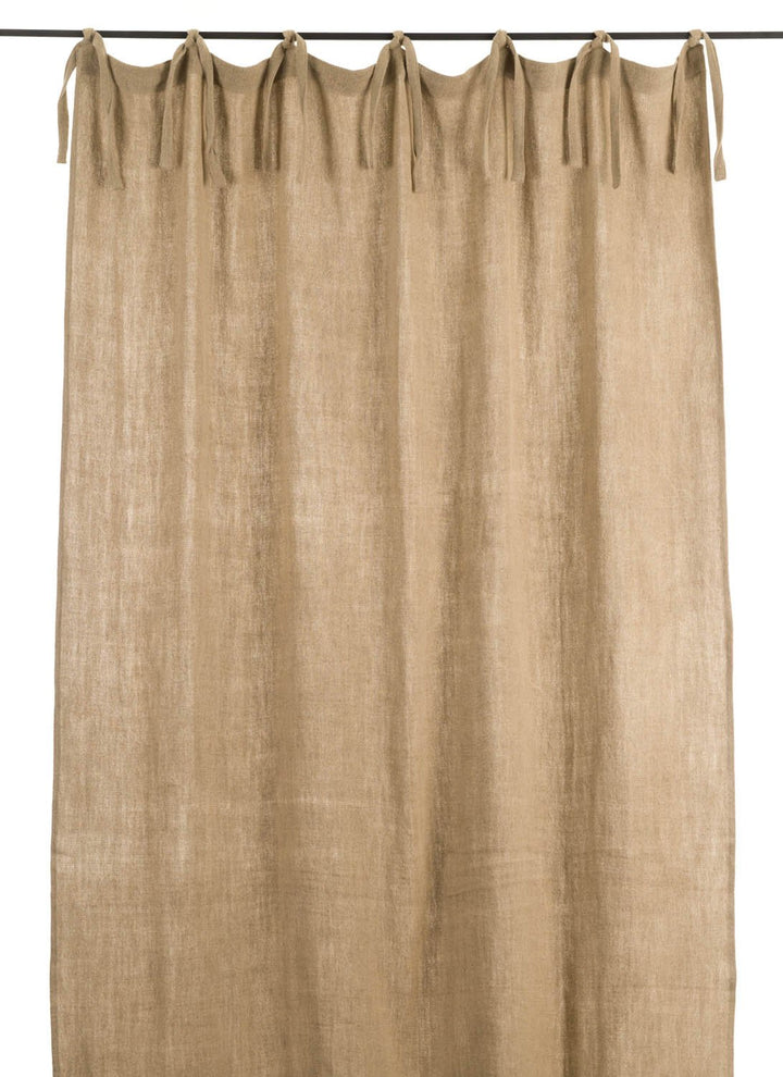 En-fil-dindienne - Rideaux en lin frangé - Lin - 150x300 cm - Home Beddings and Curtains