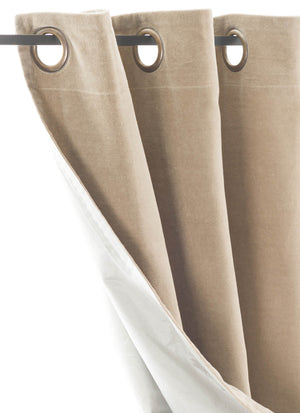 En-fil-dindienne - Rideaux en velours Lyric - Beige - 140x280 cm - Home Beddings and Curtains