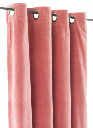 En-fil-dindienne - Rideaux en velours Lyric - Rose-Poudre - 140x280 cm - Home Beddings and Curtains