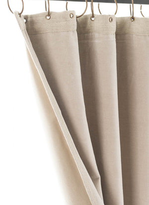En-fil-dindienne - Rideaux en velours Medicis - Beige - 130x280 cm - Home Beddings and Curtains