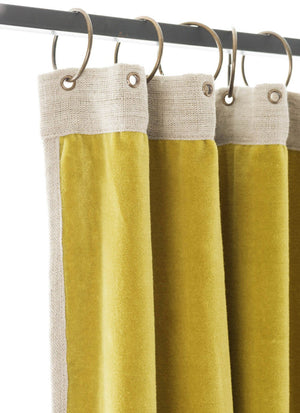 En-fil-dindienne - Rideaux en velours Medicis - Jaune-Citron - 130x280 cm - Home Beddings and Curtains