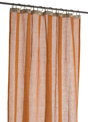 En-fil-dindienne - Rideaux en voile de lin Brise - Ambre - 130x280 cm - Home Beddings and Curtains