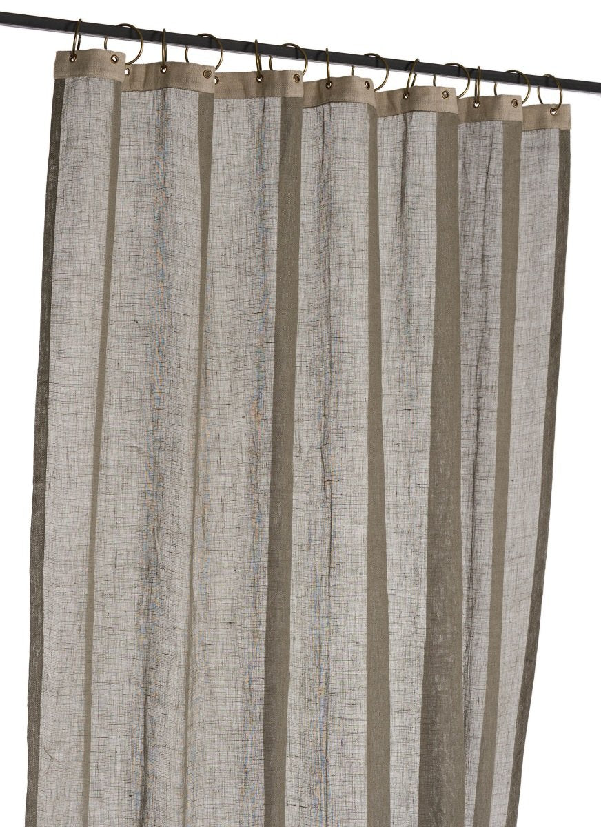 En-fil-dindienne - Rideaux en voile de lin Brise - Gris - 130x280 cm - Home Beddings and Curtains