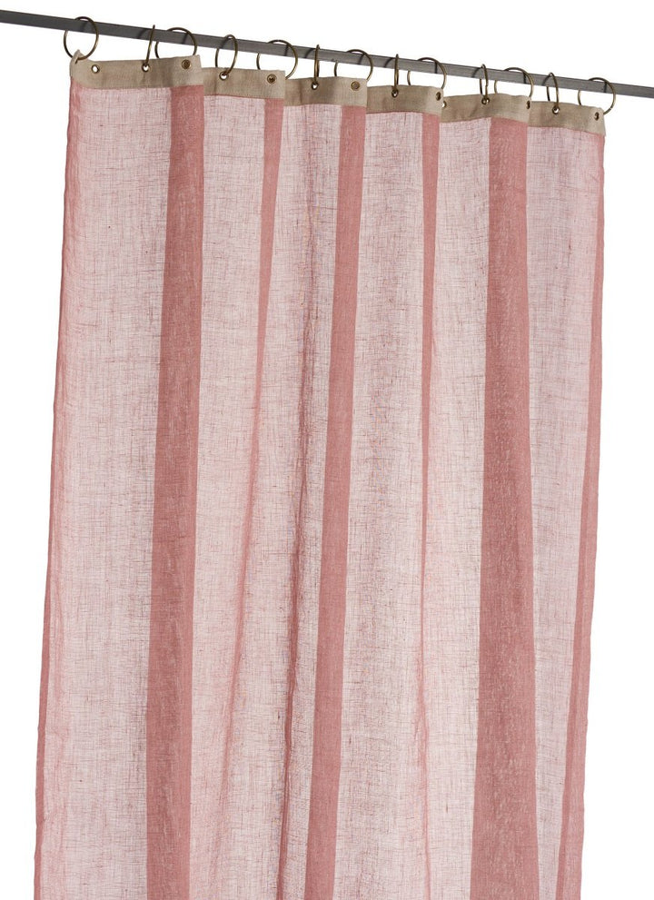 En-fil-dindienne - Rideaux en voile de lin Brise - rose Dragee - 130x280 cm - Home Beddings and Curtains