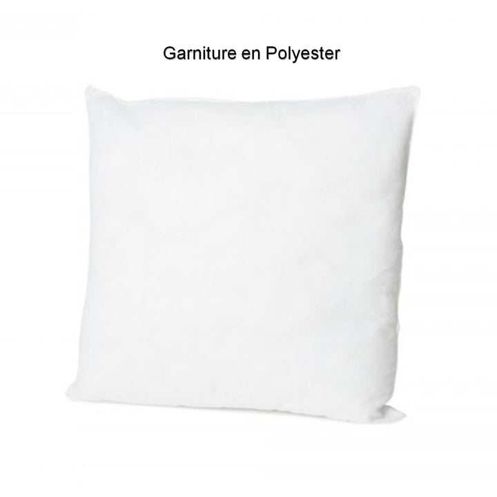 Garniture coussin polyester carree- 45x45 cm