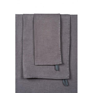Harmony - Eponge Serviette Java - 100% lin - gris Granit - Home Beddings and Curtains