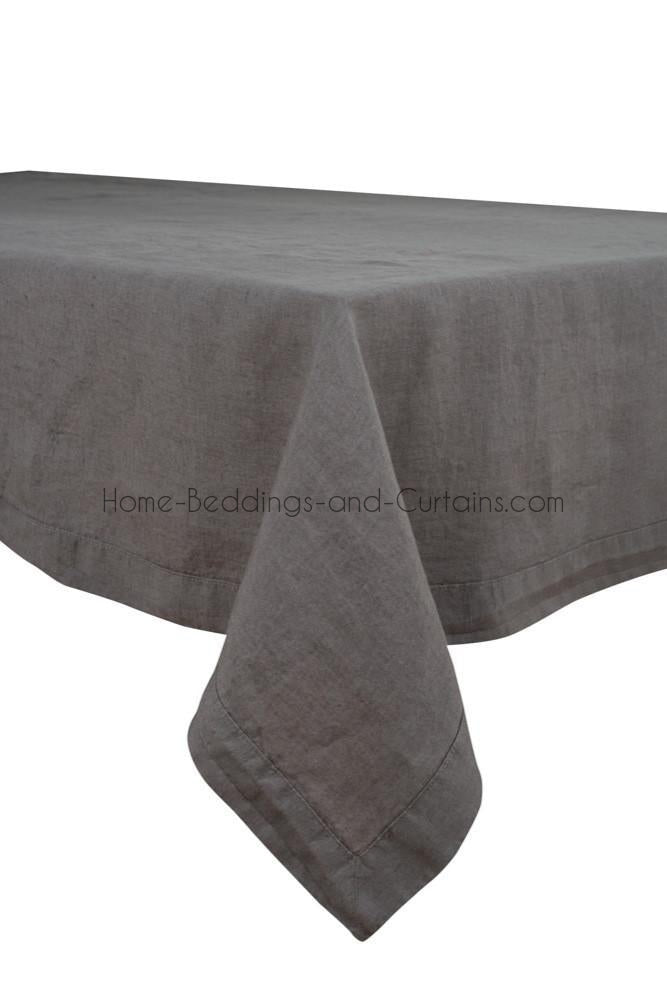 Harmony - Nappe en lin unie Nais Granit - 100% lin lavé - Home Beddings and Curtains