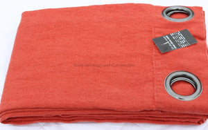 Harmony - Rideaux en lin lavé Propriano rouge orange Tomette - 140x280 cm - Home Beddings and Curtains