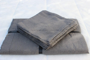 Harmony - Serviette de table en lin lavé Nais - Gris Granit - 41x41 cm - Home Beddings and Curtains