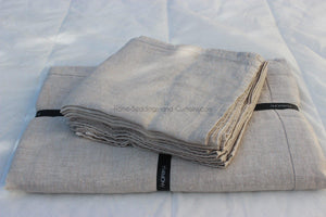 Harmony - Nappe en lin lavé Nais Lin naturel - Home Beddings and Curtains