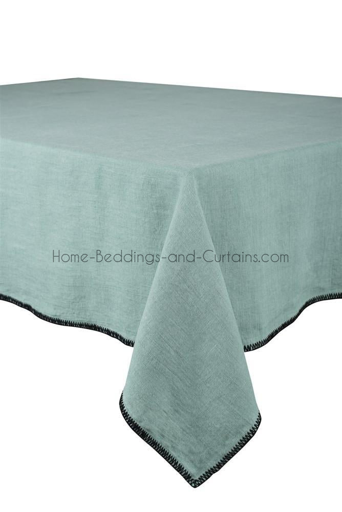Harmony - Serviette en lin lavé carrée Letia bleu Celadon 100% Lin 41x41 cm - Home Beddings and Curtains