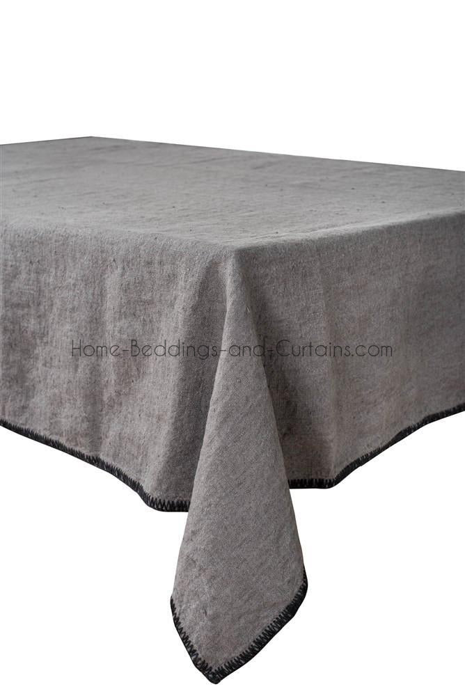 Harmony - Serviette en lin lavé carrée Letia gris granit - 41x41 cm - Home Beddings and Curtains
