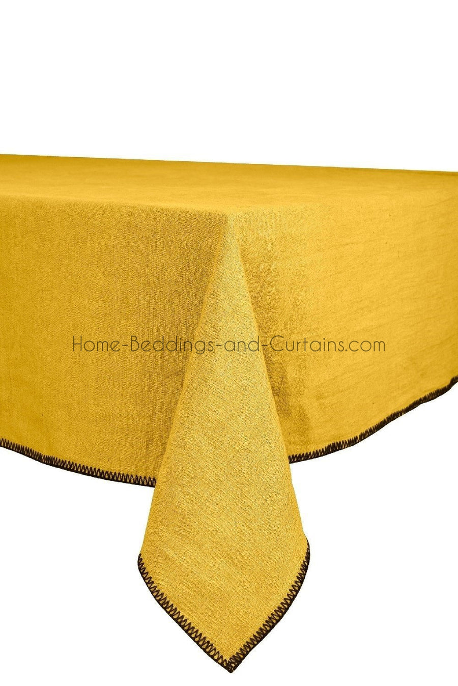 Harmony - Serviette en lin lavé carrée Letia - Jaune Absynthe - 41x41 cm - Home Beddings and Curtains