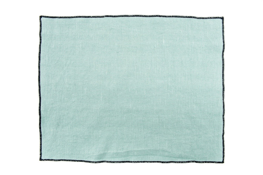 Harmony - Set de table en lin Luri - Bleu Vert Celadon - 35x45 cm - Home Beddings and Curtains