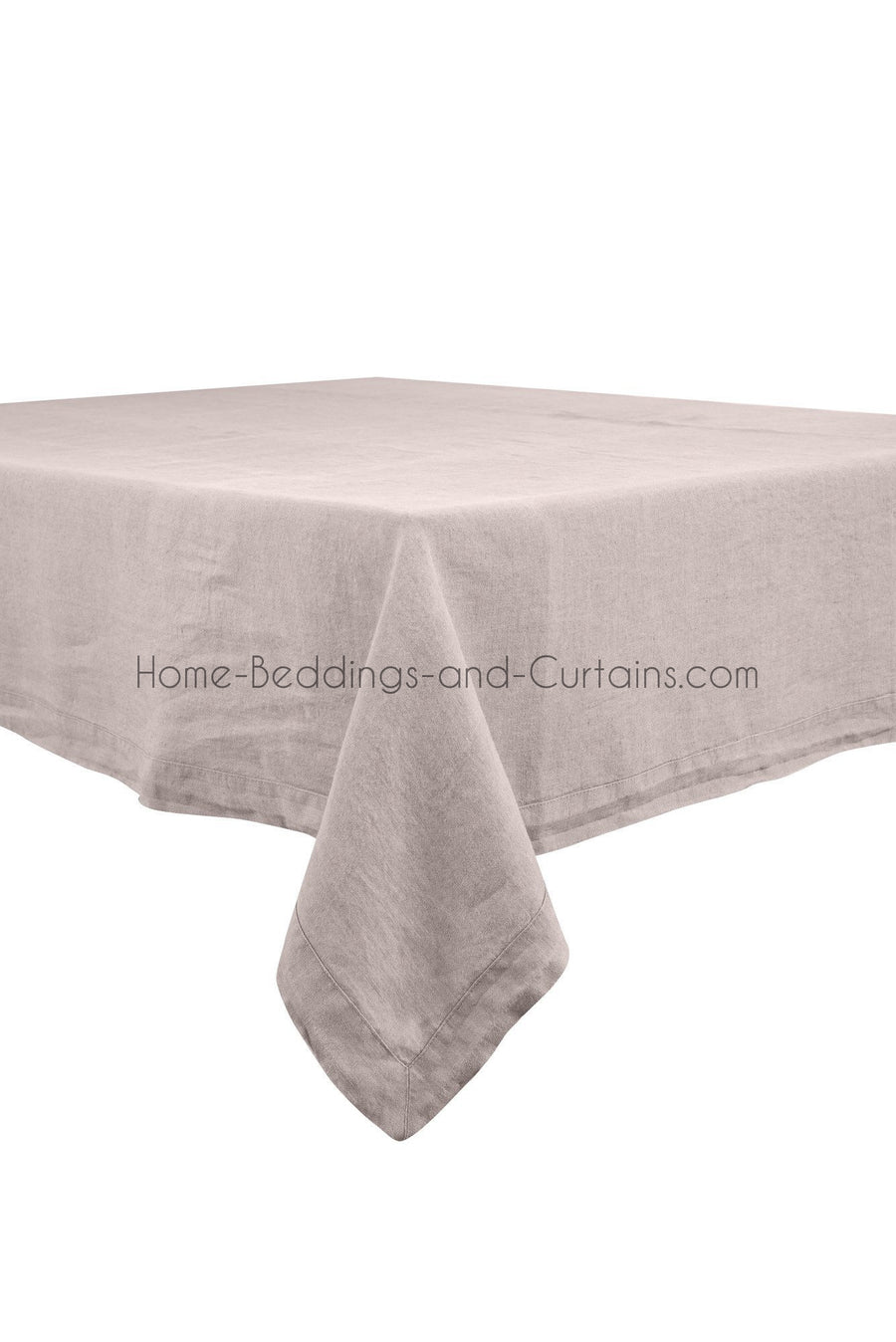 Harmony - Nappe en lin lavé Nais rose Poudre - Home Beddings and Curtains
