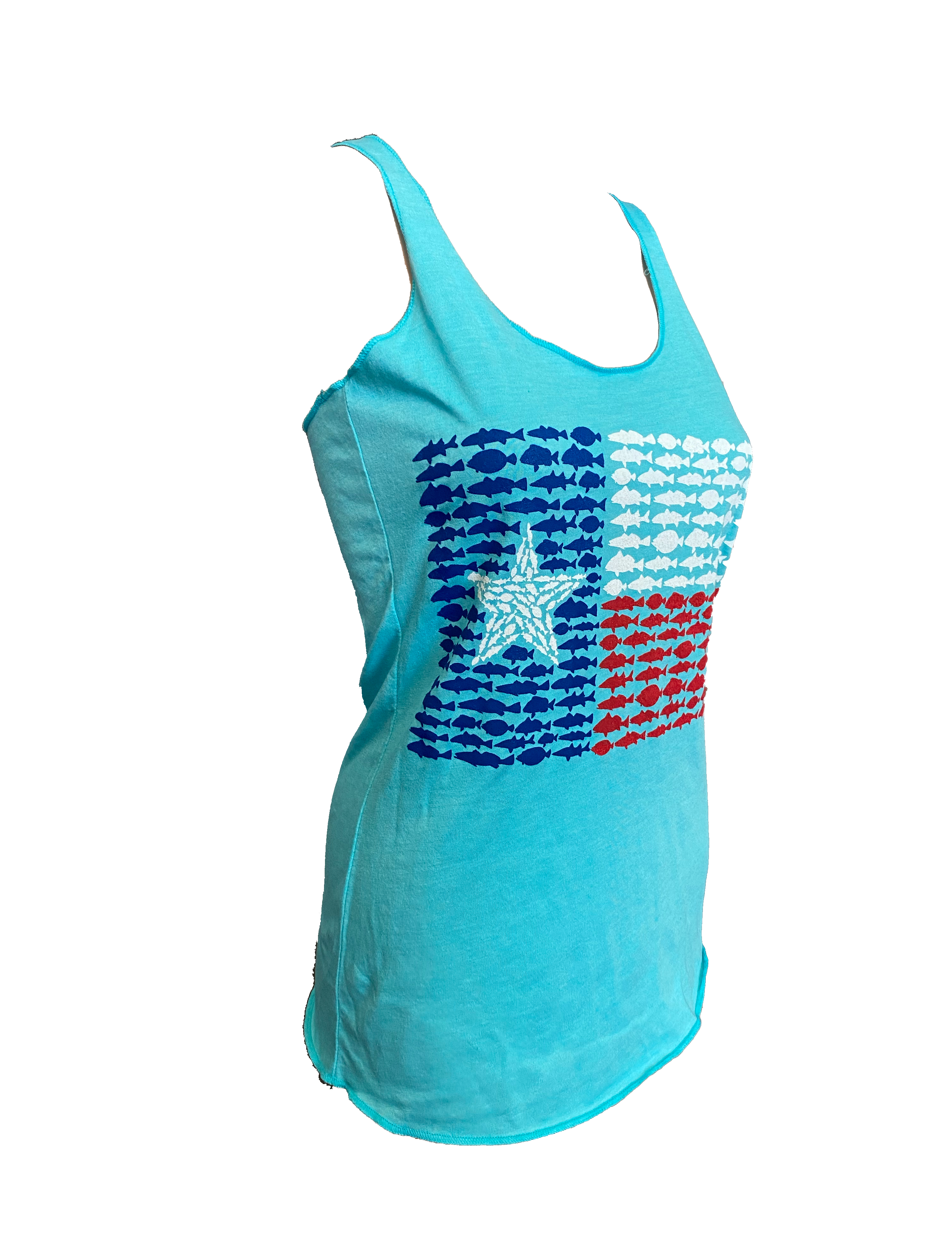 Tank top - Fish Flag Tahita Blue