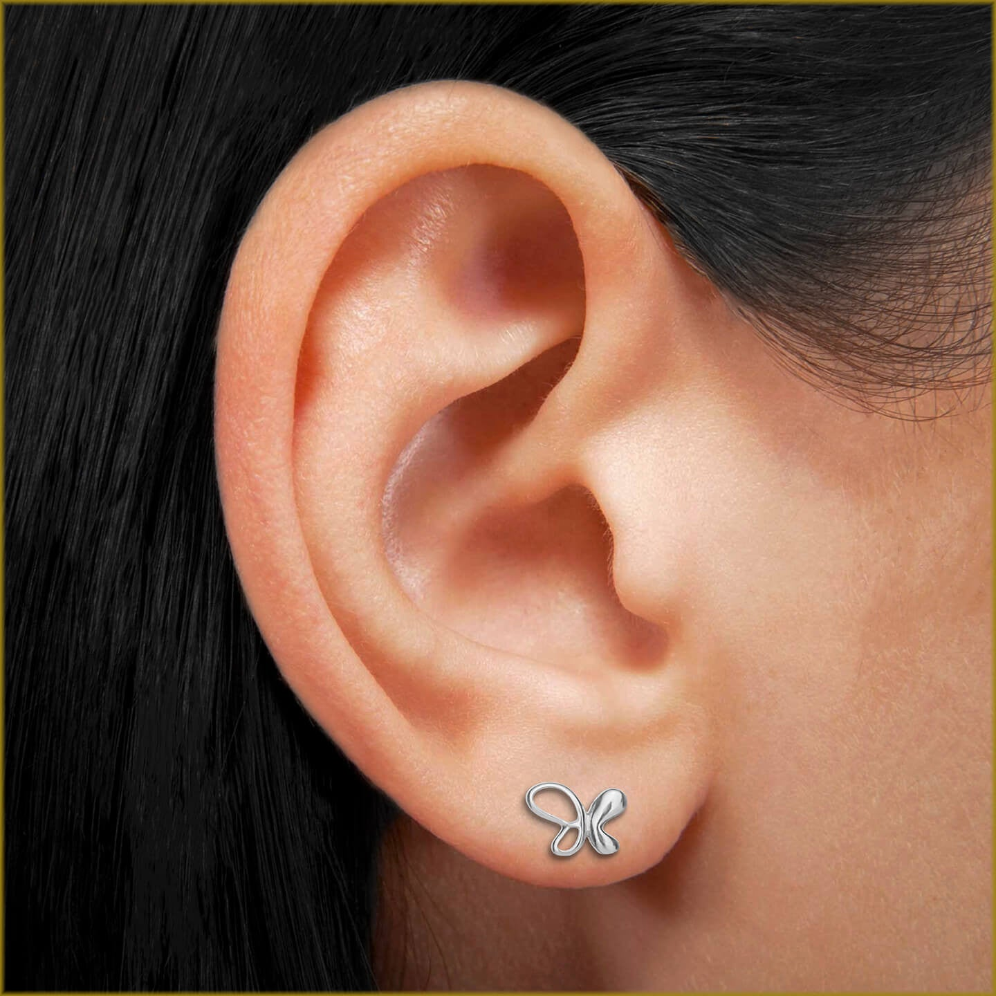 silver sterling stud butterfly image trademark gucci earrings of shop product