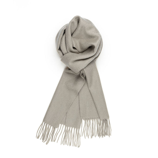 Pure Cashmere Scarf, Light Grey