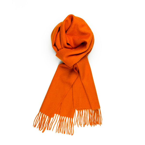 Pure Cashmere Scarf, Orange