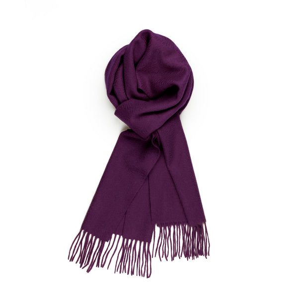 Pure Cashmere Scarf, Purple