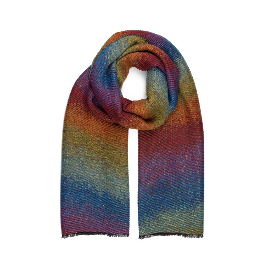 Metallic Ombre Pleated Scarf