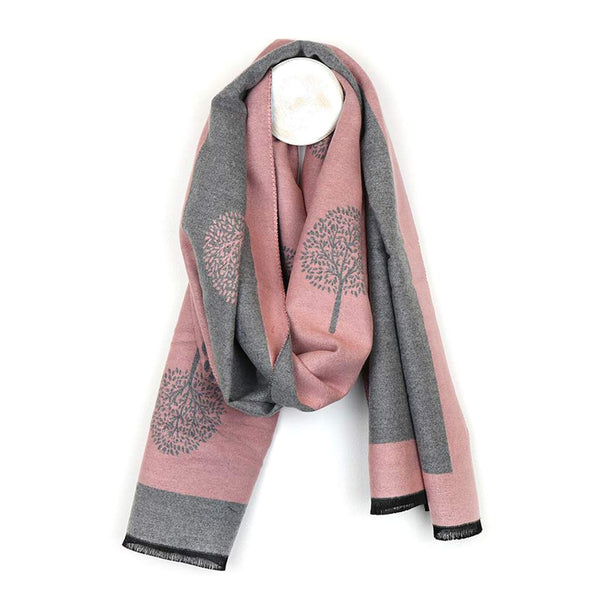 Mulberry Tree Jacquard Scarf, Pink