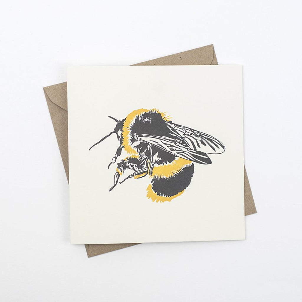 Penguin Ink Bumble Bee Card