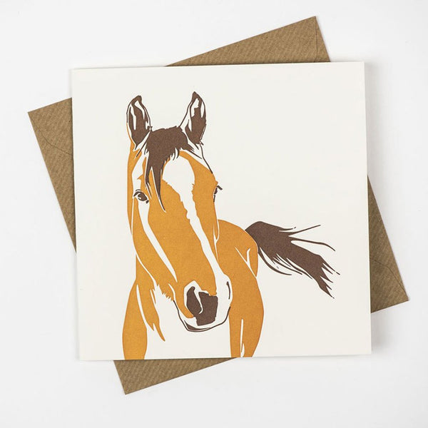 Penguin Ink Horse Card