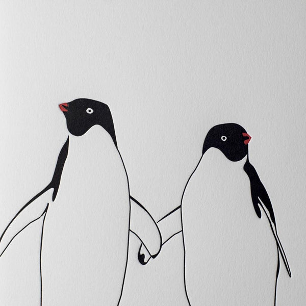 Penguin Ink Penguins In Love Card
