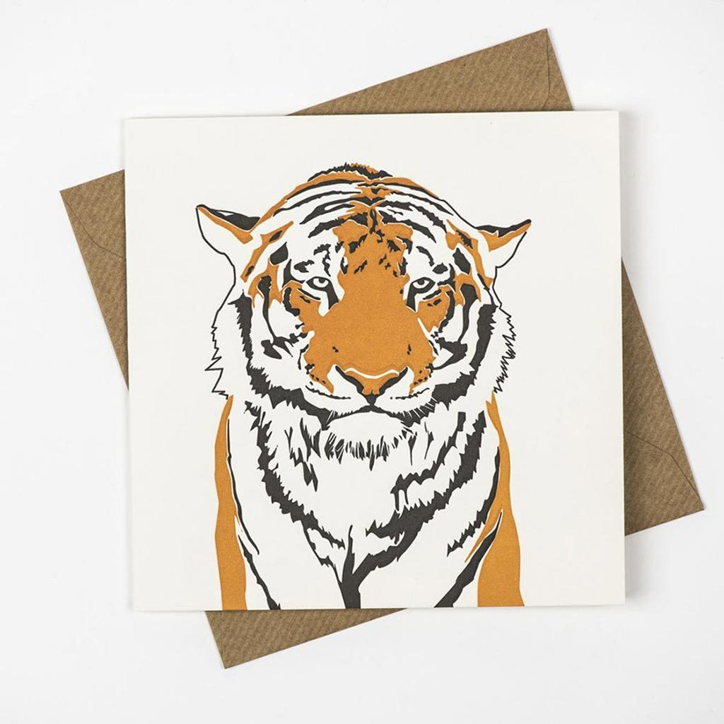 Penguin Ink Tiger Card