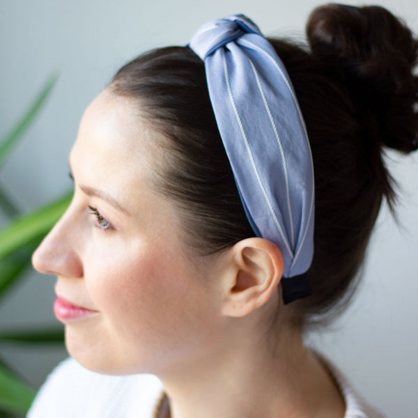 Pinstripe Headband, Blue