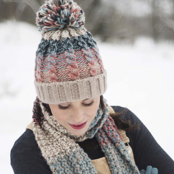 Powder Astrid Hat, Teal Mix