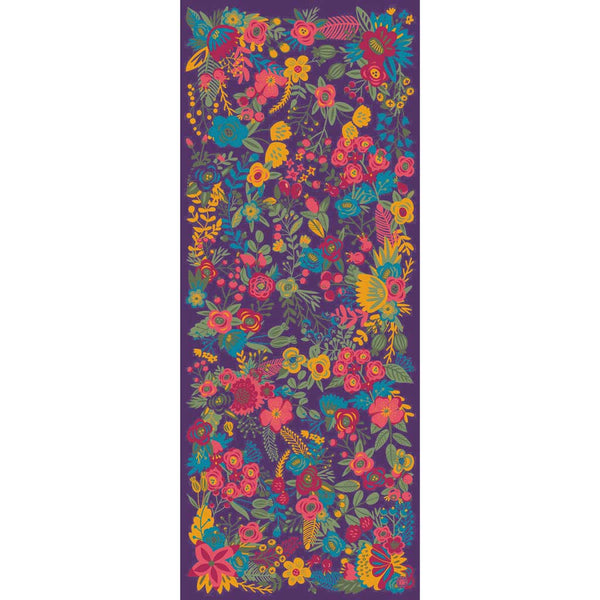Powder Floral Satin Scarf