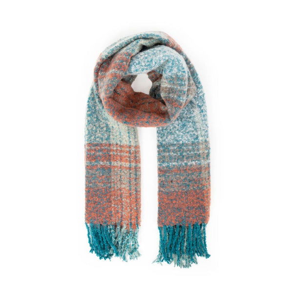 Powder Maggie Scarf, Teal Mix