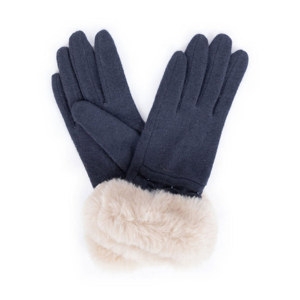 Powder Tamara Wool Gloves, Charcoal