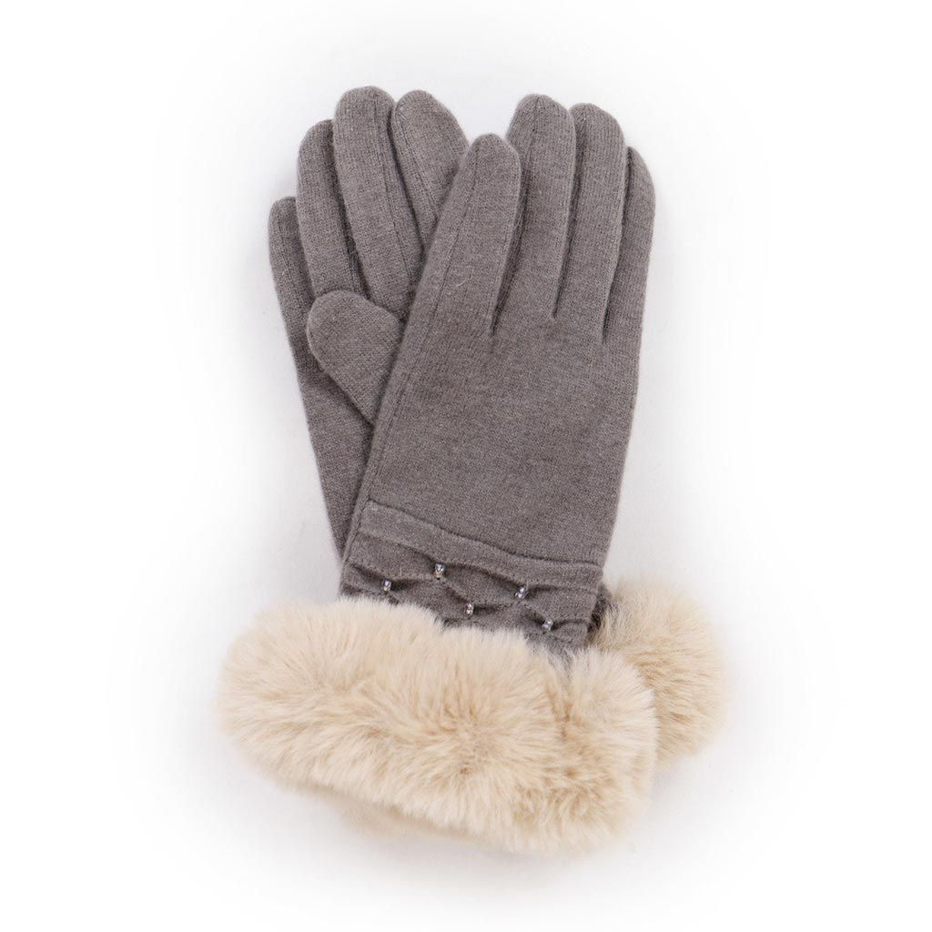 Powder Tamara Wool Gloves, Slate