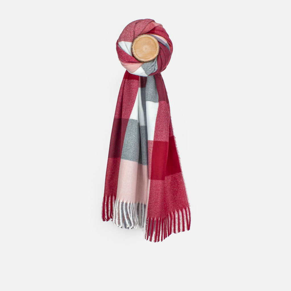 Red/Pink Check Scarf