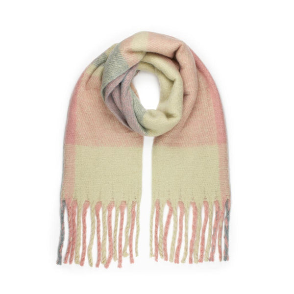 Super Fluffy Scarf, Pink Check
