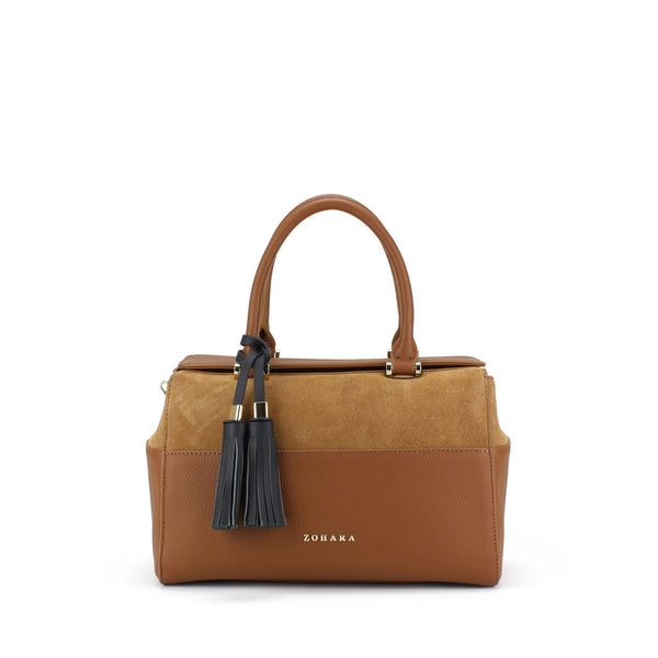 Zohara Mourne Bowling Bag in Tan