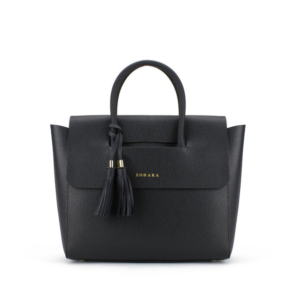 Zohara Trassey Flap Bag in Black