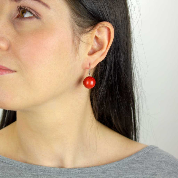 ZSISKA Bolas Earrings in Rust