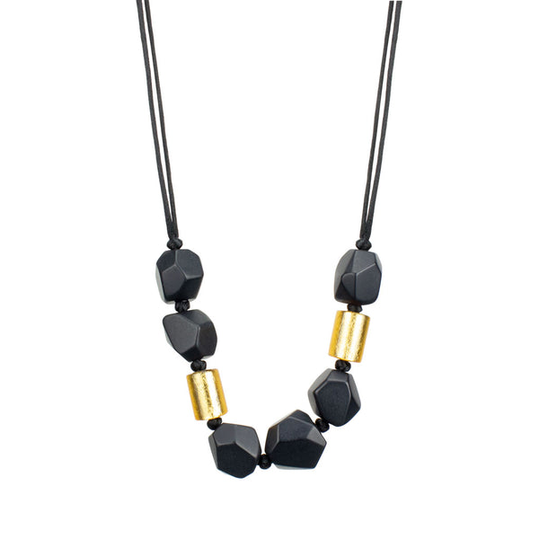 ZSISKA Dolomites Necklace in Black/Gold
