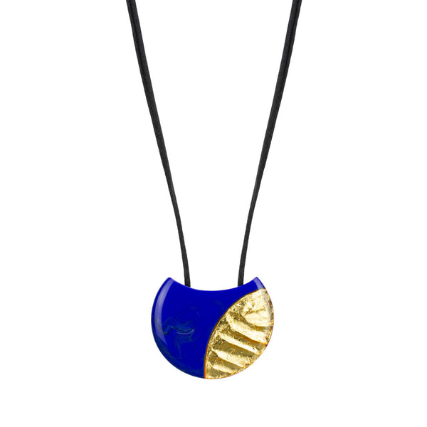 ZSISKA Inca Pendant in Blue/Gold