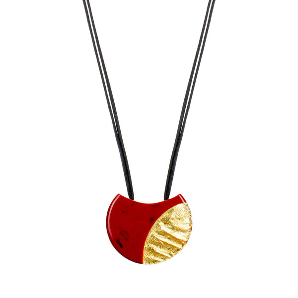 ZSISKA Inca Pendant in Red/Gold