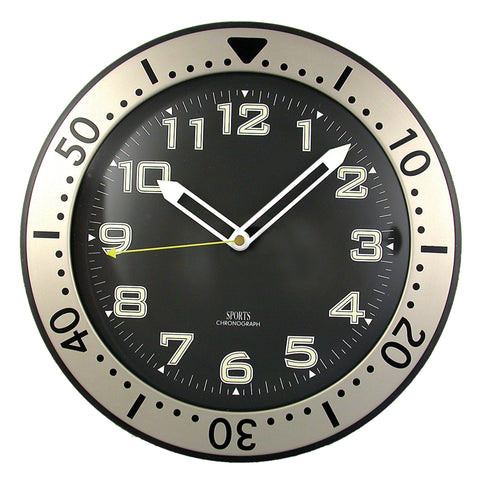 Clock Glow in the Dark Chronograph