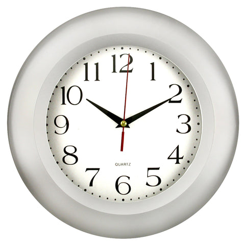 Silver Frame Wall Clock